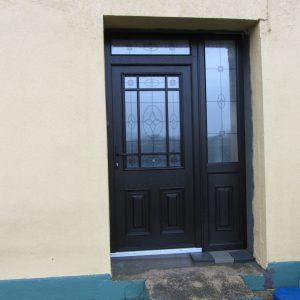 Cairo Bog Oak Palladio Door, Entrance Door, Compsoite Door, Front Door